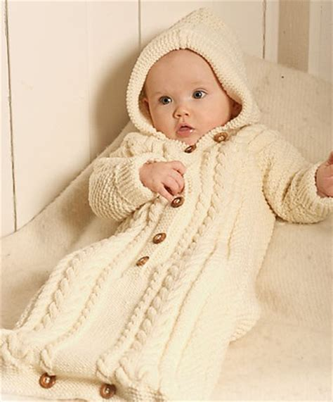 Baby Knitted Sleeping Bag baby cocoon snuggly sleep sack wrap knitting patterns