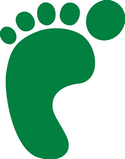 carbon footprint template footprint clipart cliparts co