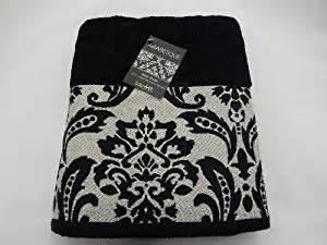 white and black bath towels arabesque black white towels 27 quot x 52 quot bath