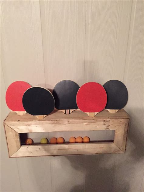 diy ping pong paddle  ball holder  images pool