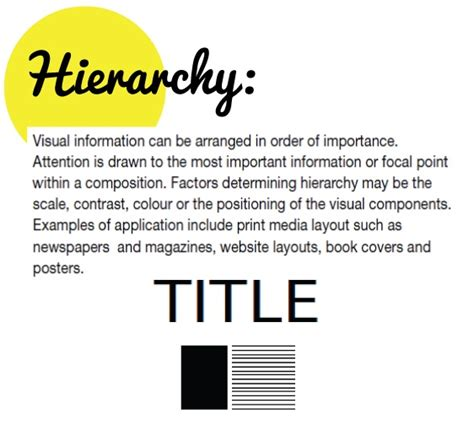design in art definition 1000 images about hierarchy design principle on
