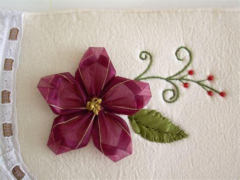 como hacer bordados con flores de liston los tiliches de angie juegos de ba 241 o con nochebuenas