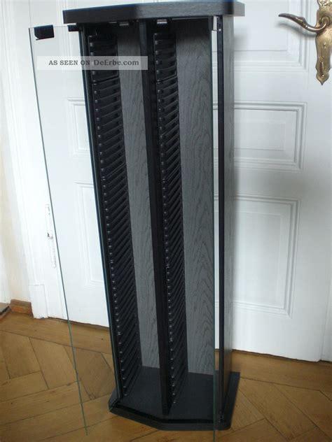cd schrank mit glastür cd regal st 228 nder schrank holz schwarz mit glast 252 ren
