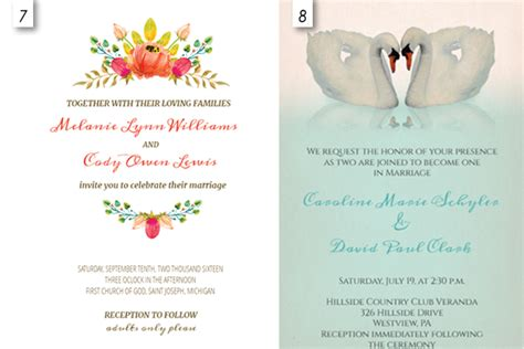 12 Editable Templates For Wedding Invitations Everafterguide Editable Wedding Invitation Templates Free