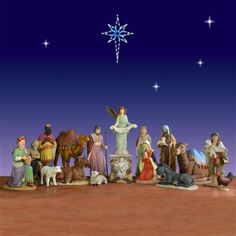 outdoor 17 piece nativity set christmasnightinc com