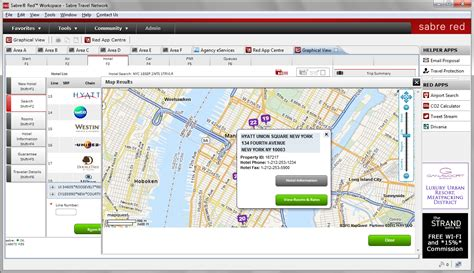 in our graphical view find hotels on maps according to