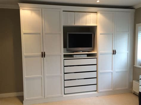 schrank pax ikea pax wardrobes hacked to look built in with leather