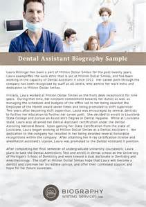 dental assistant biography writing
