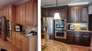 Oak kitchen cabinets before and after before and after kitchen