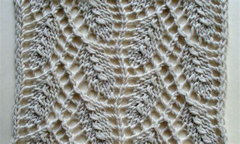 leaf pattern lace willow leaf an estonian lace pattern knit