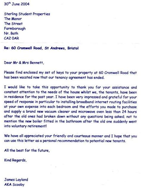 Thank You Letter To Landlord Sle Stirling Student Properties Testimonials