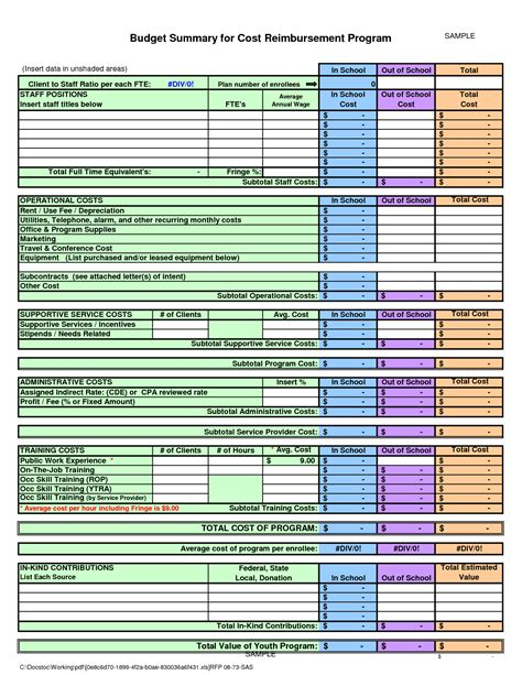real estate budget template 28 images construction