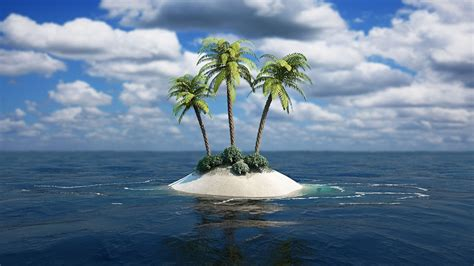 with palm tree island stones hd wallpapers hdesktops