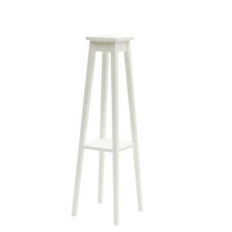 porta vasi porta vasi alto a colonna in legno laccato bianco cm 116
