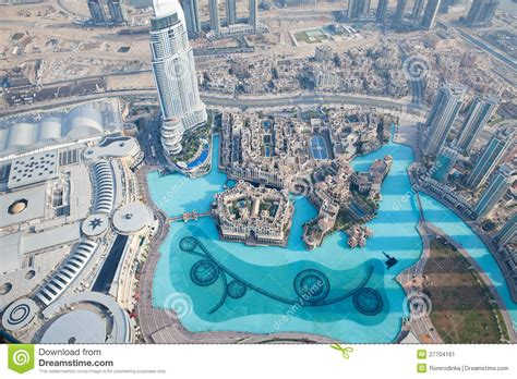 Burj Khalifa Floor Plans by The Top View From Burj Khalifa In Dubai Stock Image