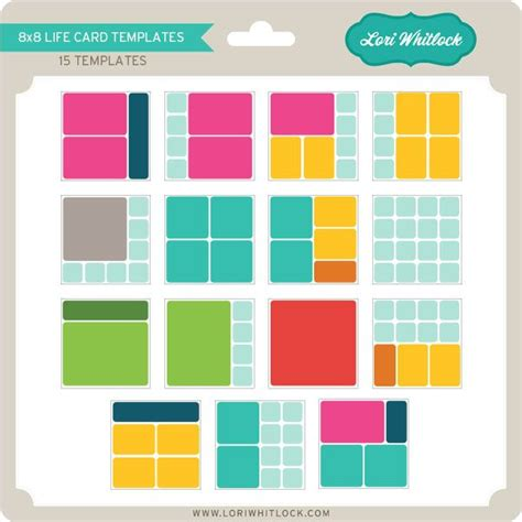 8x8 Card Box Template by Templates 8x8 Project Scrapbooking