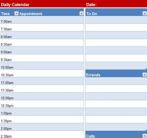 calendar day to day calendar template 2016