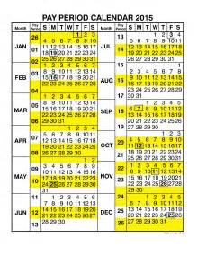 2018 Calendar Opm Federal Government Pay Period Calendar 2015