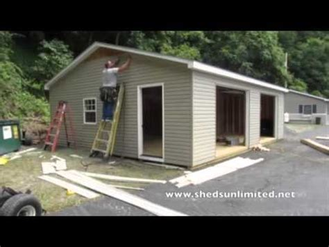how wide is a two car garage double wide modular garages in five hours youtube