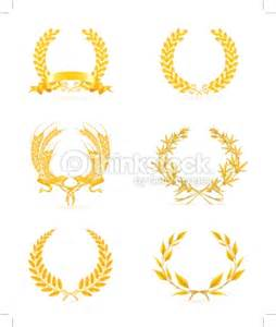 Golden wreath set vector art thinkstock