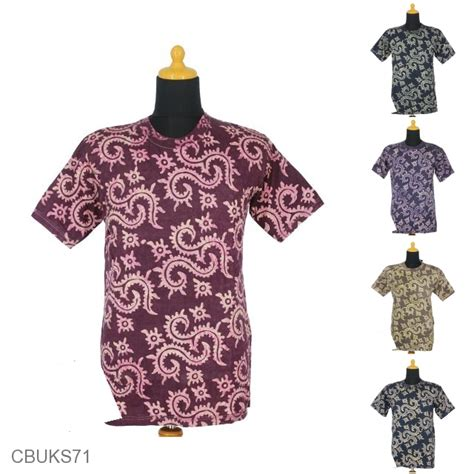 Kaos Motif kaos batik exclusive motif batik cap daun pakis kaos