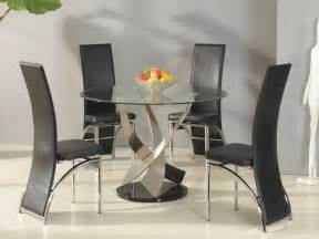 Circular Glass Dining Table And 4 Chairs Fads Furniture Store Fads