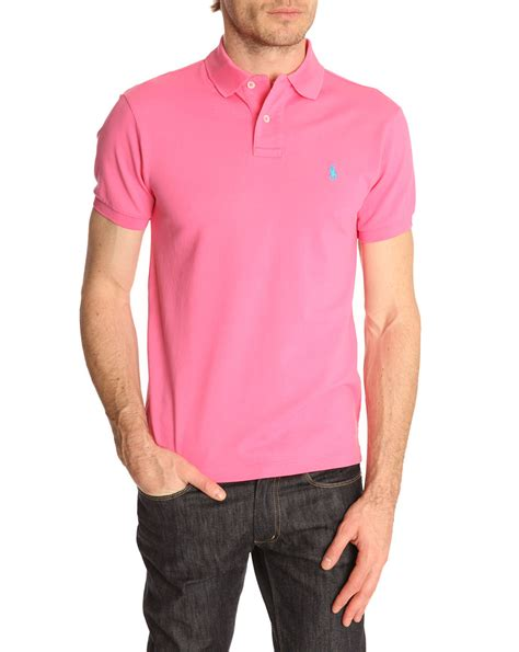 Blouse Qorry Polo Pink polo ralph baja pink slim fit stretch polo shirt in pink for lyst