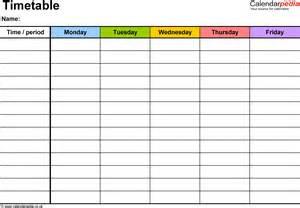 pics photos timetable template