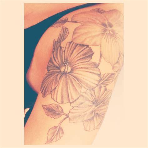 february birth flower tattoo quarter sleeve of white violet flowers southside