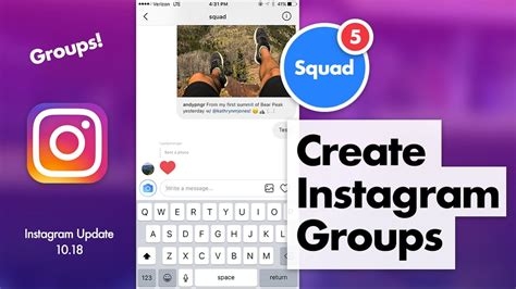 design stuff group instagram how to create and use instagram groups youtube