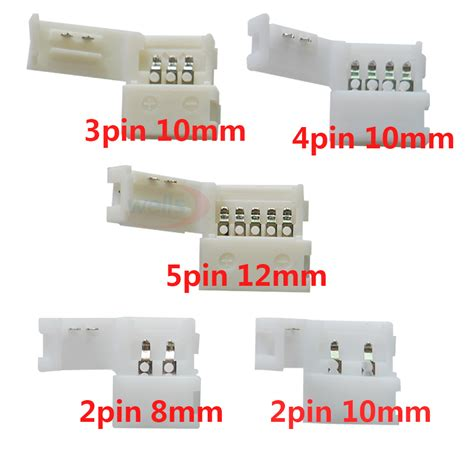 Led 2 Connector Kabel 3528 1 10pcs 2pin 3pin 4pin 5pin led connector clip for 5050 3528 3014 led single color rgb rgbw