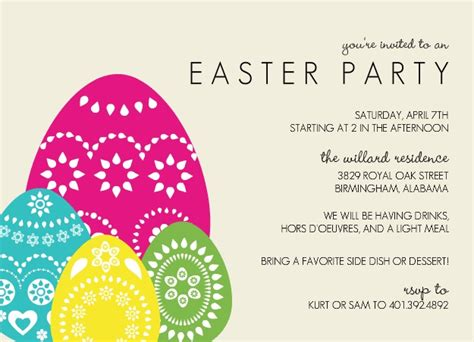 Superb Best Churches For Young Adults #7: Colorful-Eggs-Easter-Party-Invitation.jpg