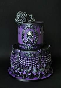 Dark Chocolate Raspberry victorian gothic cakecentral com