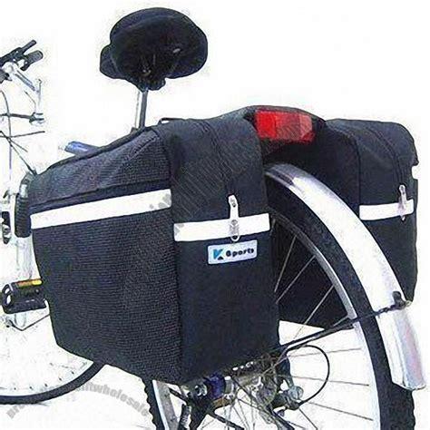 bicycle back saddle bag with webbing reflective