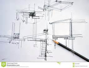 How To Read A Floor Plan Symbols draft hand drawing architecture plan with pencil royalty