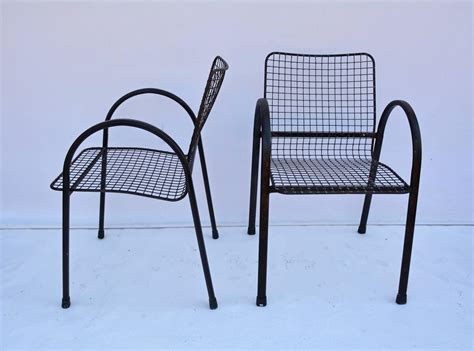 wrought iron mesh patio furniture four patio wrought iron mesh arm chairs for sale at 1stdibs