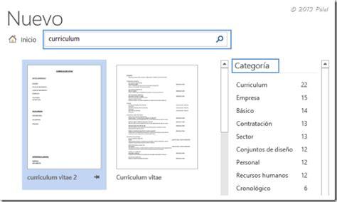 Plantilla De Curriculum Word 2013 Office 2013 Plantillas Personales De Usuario El De Palel