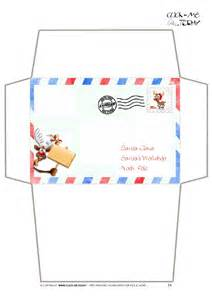 santa envelope template craft envelope letter to santa claus border reindeer 14