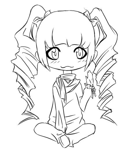 coloring pages of curly hair curly haired chibi by dying candy on deviantart