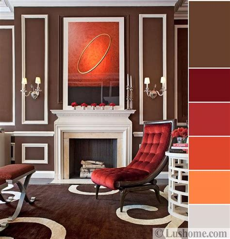 living room brown color scheme stylish orange color schemes for vibrant fall decorating