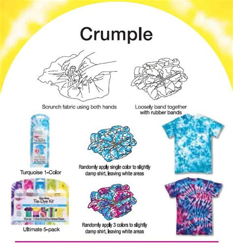 crumple tie dye technique from tulip favecrafts com
