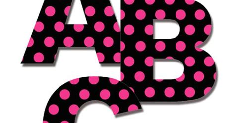 Pink Zebra Bedroom Ideas hot pink and black polka dot alphabet letters wall decals