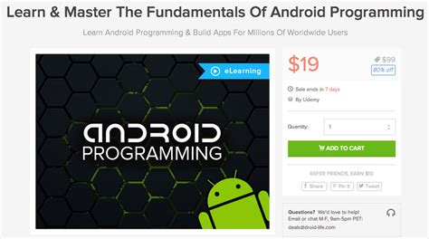 android programming deal fundamentals of android programming for 19 it s time to build your own apps droid