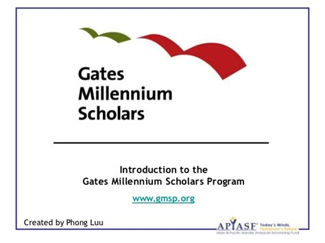 Gates Millennium Essay Topics by Introduction To The Gates Millennium Scholars Program