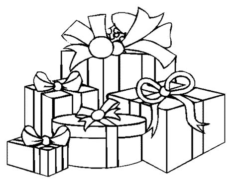 Gift Coloring Page new year coloring pages new year gifts coloring pages