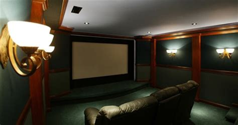 dude turns basement  full  theater includes