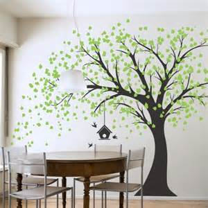 large windy tree with birdhouse wall decal amazon com stylish modern flower wall stickers vinyl art