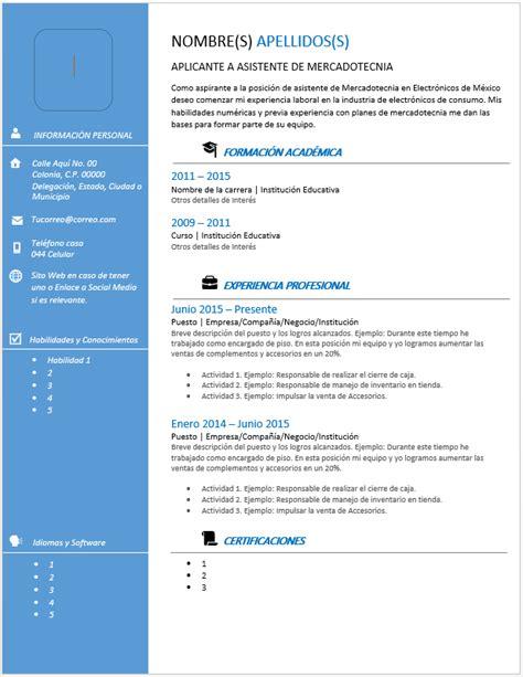 Plantillas De Curriculum Vitae Para Recien Egresados curr 237 culum vitae moderno gt ejemplos formatos y plantillas
