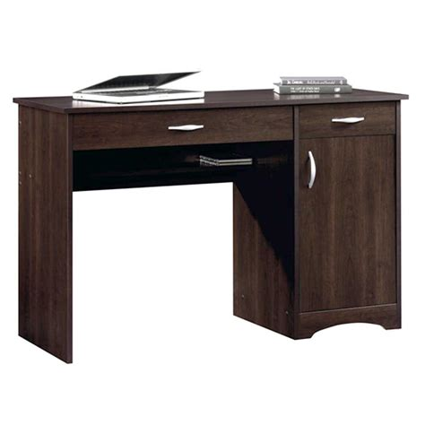 sauder beginnings cinnamon cherry desk with storage 413072