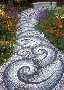 Mosaic Ideas For The Garden Garden Pathway Pebble Mosaic Ideas Corner